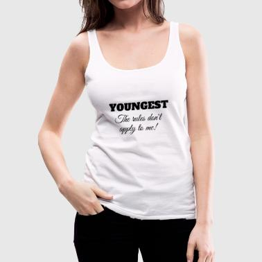 Youngest The Rules Don't Apply To Me T-Shirt - Women's Premium Tank Top
