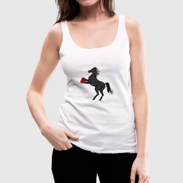 Boxing Horse Boxing Gift Boxing Gloves - Women's Premium Tank Top