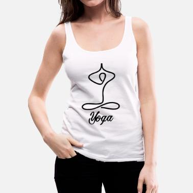 Yogi Funny Yoga for Women & Men | Namaste Om Meditation Light - Women's Premium Tank Top