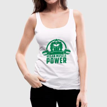 Vegan Vegan Muscle Power Gorilla Gift - Premium singlet for kvinner