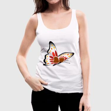 Butterfly illustration - Women's Premium Tank Top