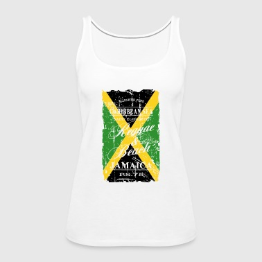 Jamaica Flag - Vintage Look - Women's Premium Tank Top