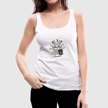 Medieval Sloth Knight with swords - Women's Premium Tank Top