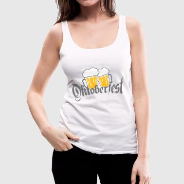 Oktoberfest abut 2 friends couple mass glass bay - Women's Premium Tank Top