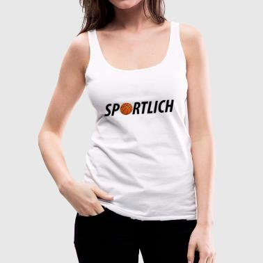 Sporty sporty basketball sport motif - Women's Premium Tank Top