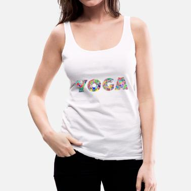 Om The Color of Yoga - Women's Premium Tank Top