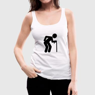 A man age at retirement age - Women's Premium Tank Top