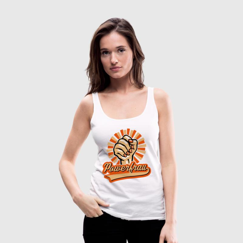 Powerfrau Frauen-Faust (3C) - Frauen Premium Tank Top