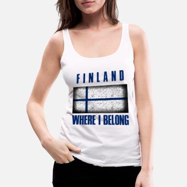 Patriot Suomi Where I Belong | Finland Helsinki geschenk - Vrouwen Premium tank top