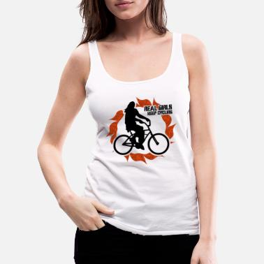 Nights Out Bicycling woman on bicycle biking sport - Women's Premium Tank Top