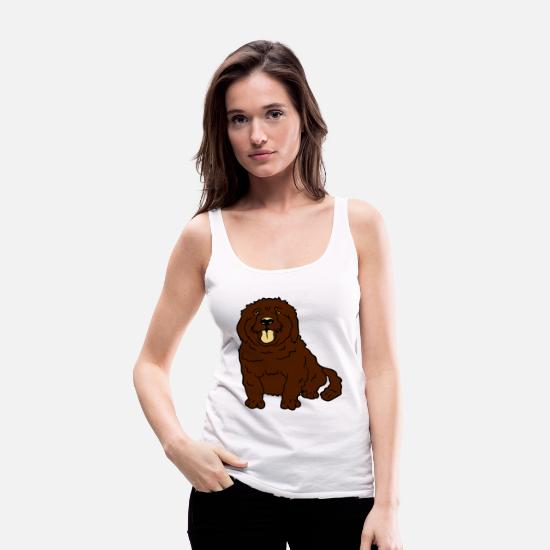 Small Tank Tops - sweet little brown sitting dog - Women's Premium Tank Top white