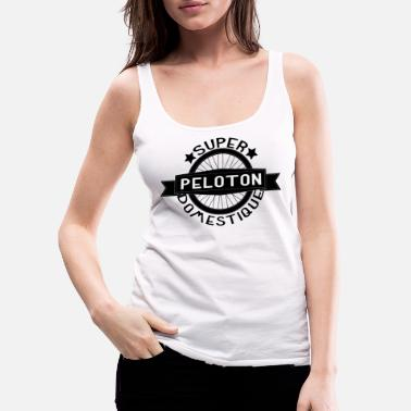 Italy Peloton Super Domestique Retro Bike Bicycling - Women's Premium Tank Top