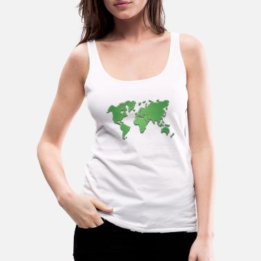 World World world map - Women's Premium Tank Top