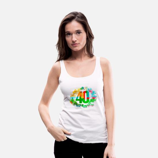 Birthday Tank Tops - 40 years - Women's Premium Tank Top white