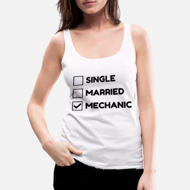 Garage Mechanic Mechanik Mécanique Mécanicien Garage - Women's Premium Tank Top