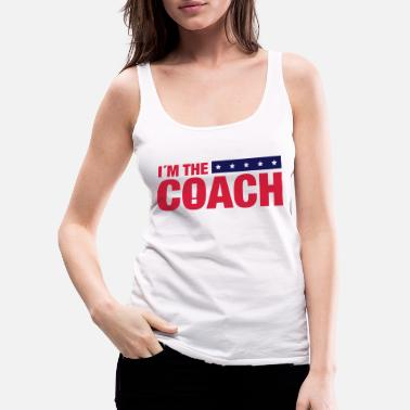 Basketball im_the_coach_ya2 - Premium tanktop dame