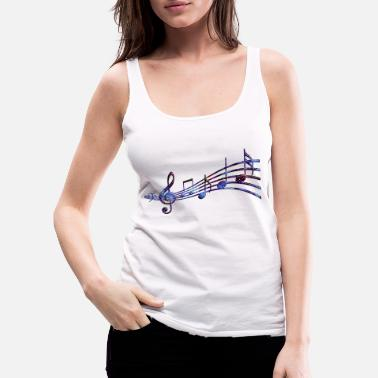 Music notes - Women's Premium Tank Top