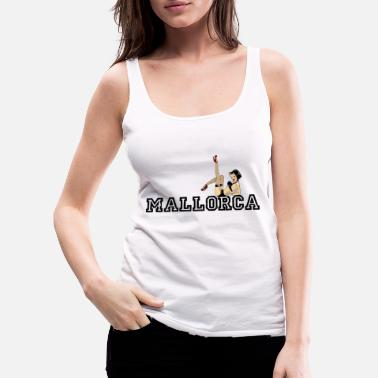 Macho Mallorca - Spain - Malle - Pin Up Girl - Beach - Women's Premium Tank Top
