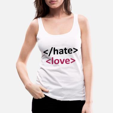 Computer Science coder shirt end hate - Women's Premium Tank Top