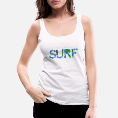 surf flowers - Women's Premium Tank Top