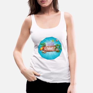 Paradise summer design gift - Women's Premium Tank Top