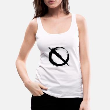 Prohibited Prohibition prohibited mirror inverted - Women's Premium Tank Top