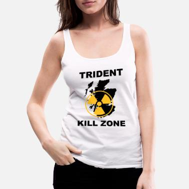 Ban The Bomb Trident Killzone - Women's Premium Tank Top