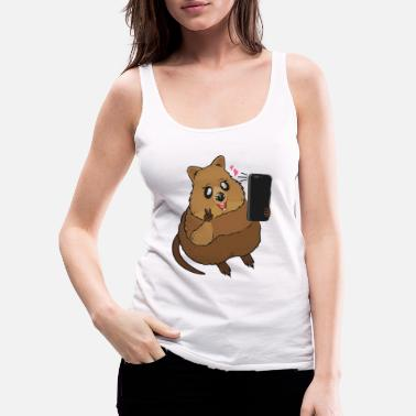 Sweet quokka takes a picture - Women's Premium Tank Top