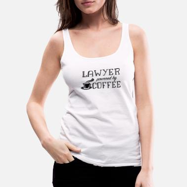 Set Lawyer powered by Coffee - Women's Premium Tank Top