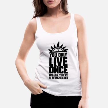 Tv LIVE ONCE, GIFT - Women's Premium Tank Top