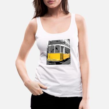 Pop art Tram - Vrouwen premium tank top