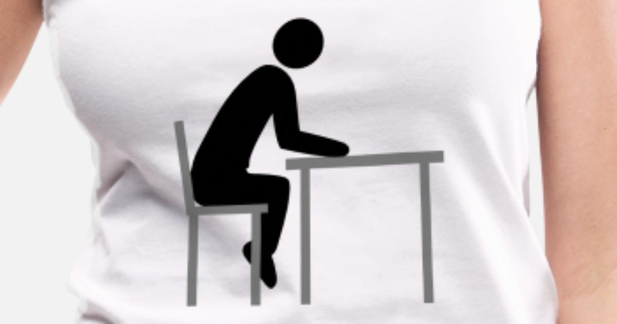 Alleine Sitzen Stuhl Tisch Clipart Koch Design Coo Frauen Premium Tanktop Spreadshirt