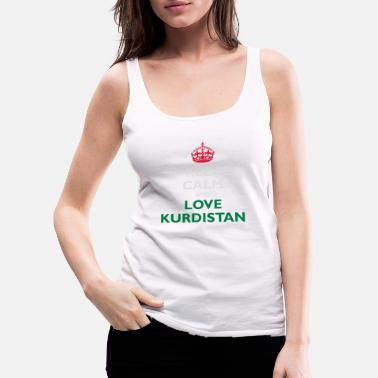 Flag Keep Calm&Love Kurdistan - Women's Premium Tank Top