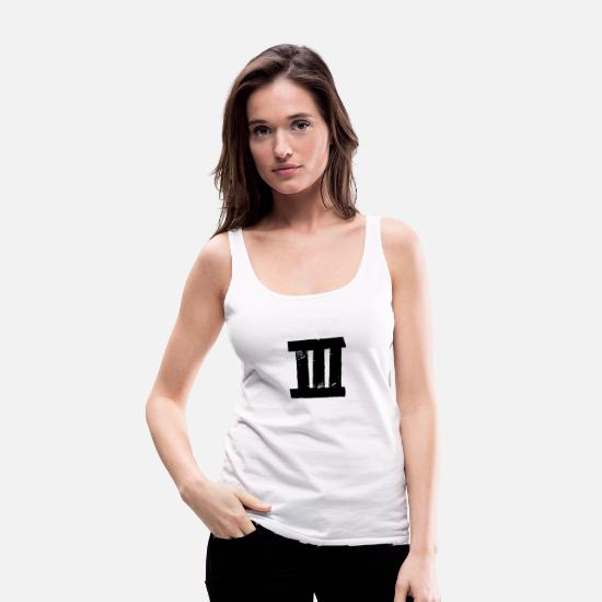 Be Different Tank Tops - III - 3 tape - Women's Premium Tank Top white