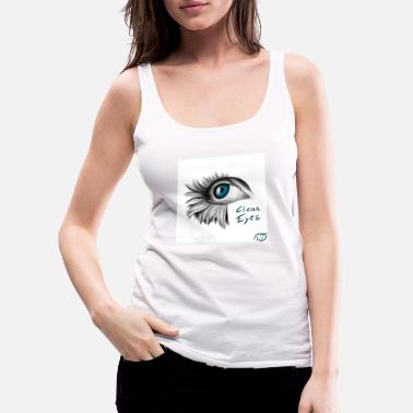 Clean eyes drawing by FLOROID - Women's Premium Tank Top