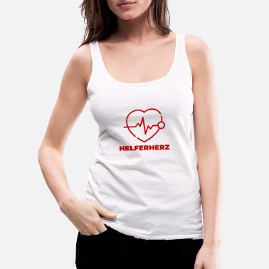 Helper Helper heart - Women's Premium Tank Top