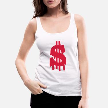Dollar Sign dollar - Women's Premium Tank Top