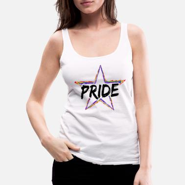 Stars And Stripes LGBT Gay Pride Star Star Gay Queer CSD - Premium tanktop dame