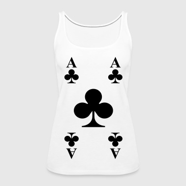 ace of clubs - Women's Premium Tank Top