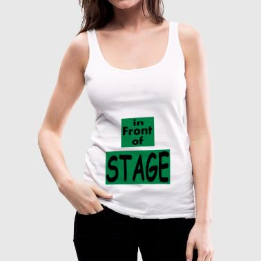 In front of Stage / Music fan - Women's Premium Tank Top