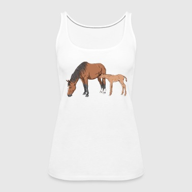 Mare and Foal - Women's Premium Tank Top