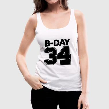 34 years old / 34th birthday number number jersey - Women's Premium Tank Top