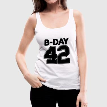 Number 42 / 42nd birthday number jersey number - Women's Premium Tank Top