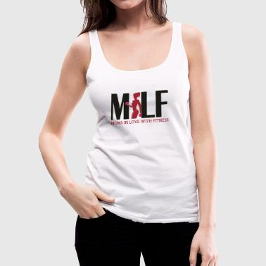 Milf: Moms in love with fitness - Women's Premium Tank Top