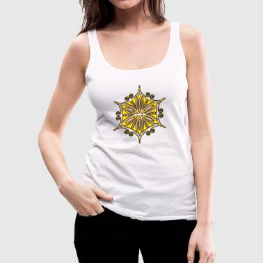 Flower of Aphrodite, gold, Symbol of  love, beauty and transformation, Power Symbol, Talisman - Vrouwen Premium tank top