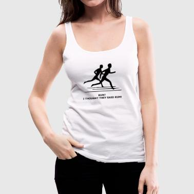 run - Women's Premium Tank Top