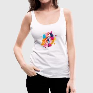 RUN Colorful - Women's Premium Tank Top
