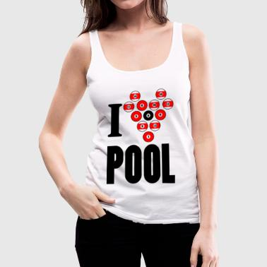i love pool - Frauen Premium Tank Top