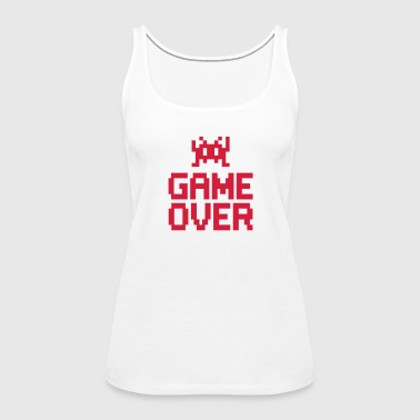 game over with sprite - Women's Premium Tank Top