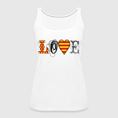 Love Catalonia Black - Frauen Premium Tank Top